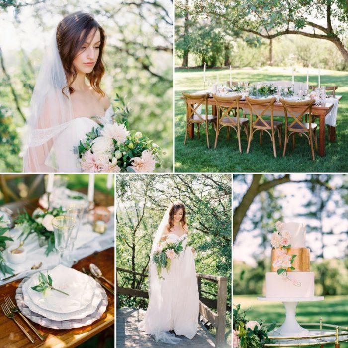 Romantic Spring Greenery Garden Wedding Inspiration