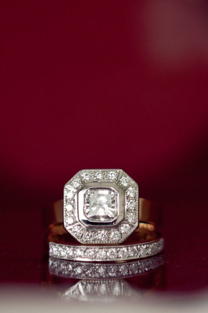 Vintage Engagement & Wedding Ring
