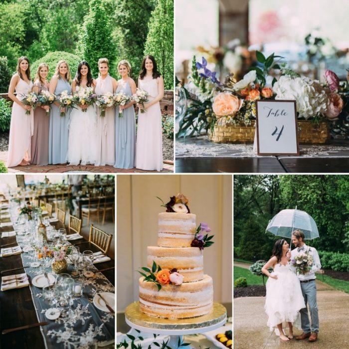 Vintage Inspired Romantic Rainy Wedding