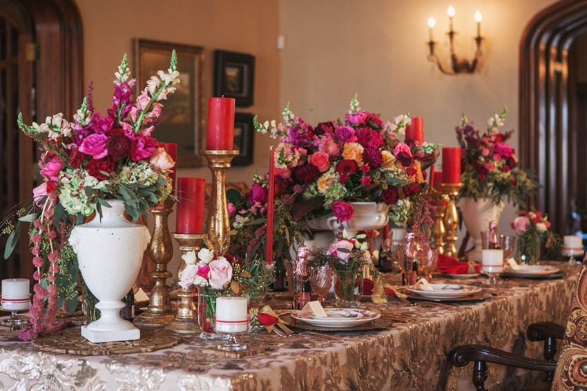 Opulent Valentines Wedding Tablescape