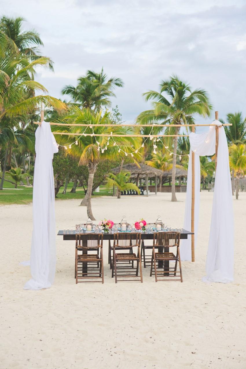 Destination Beach Wedding Reception