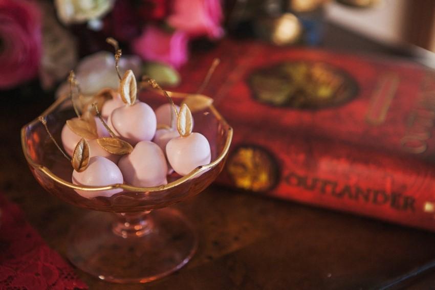 Opulent Red Valentines Wedding Desserts