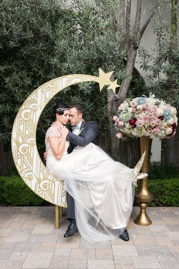 Art Deco Moon Wedding Inspiration In Rose Quartz Serenity