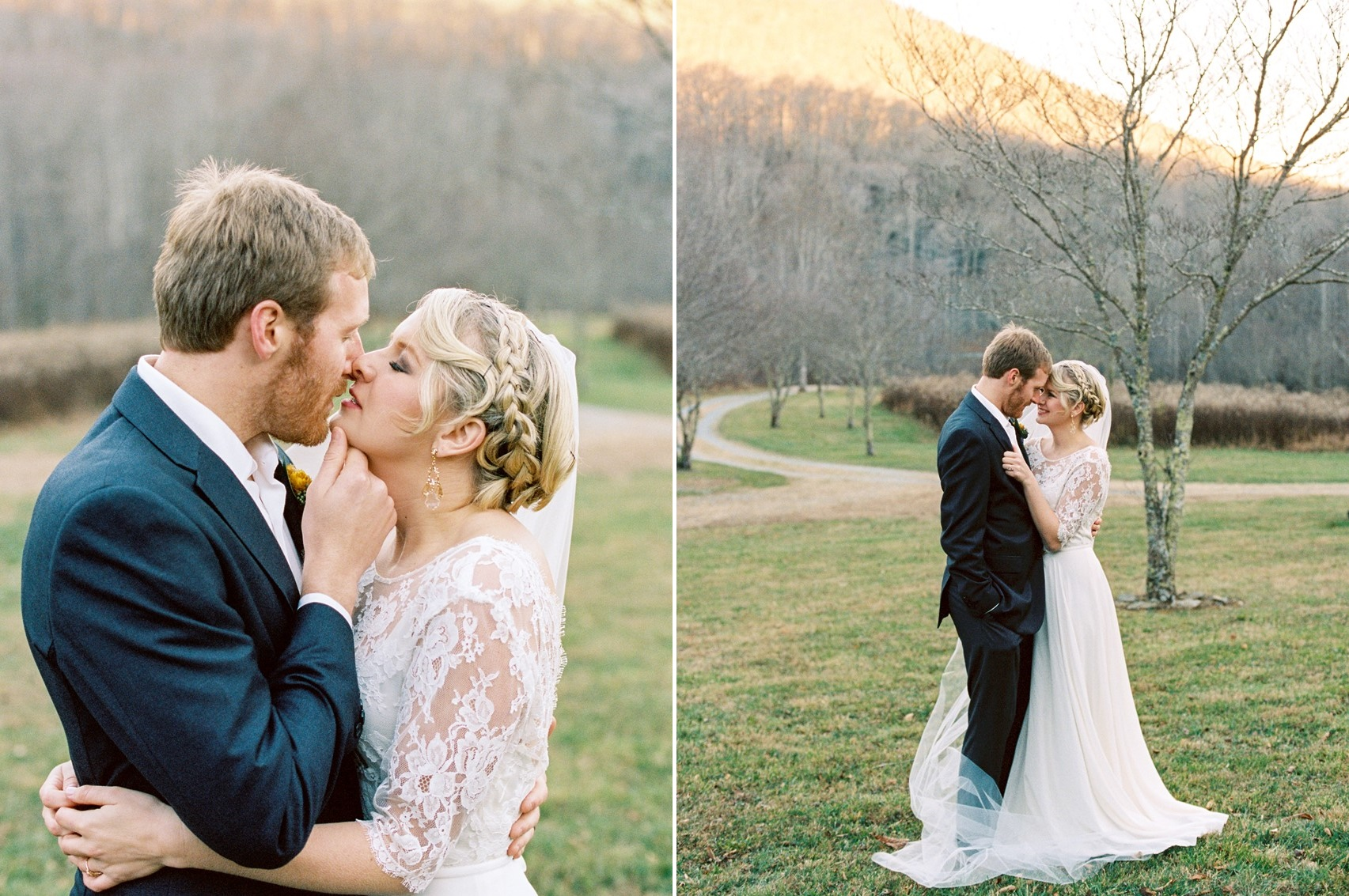 Romantic Winter Wedding Portraits