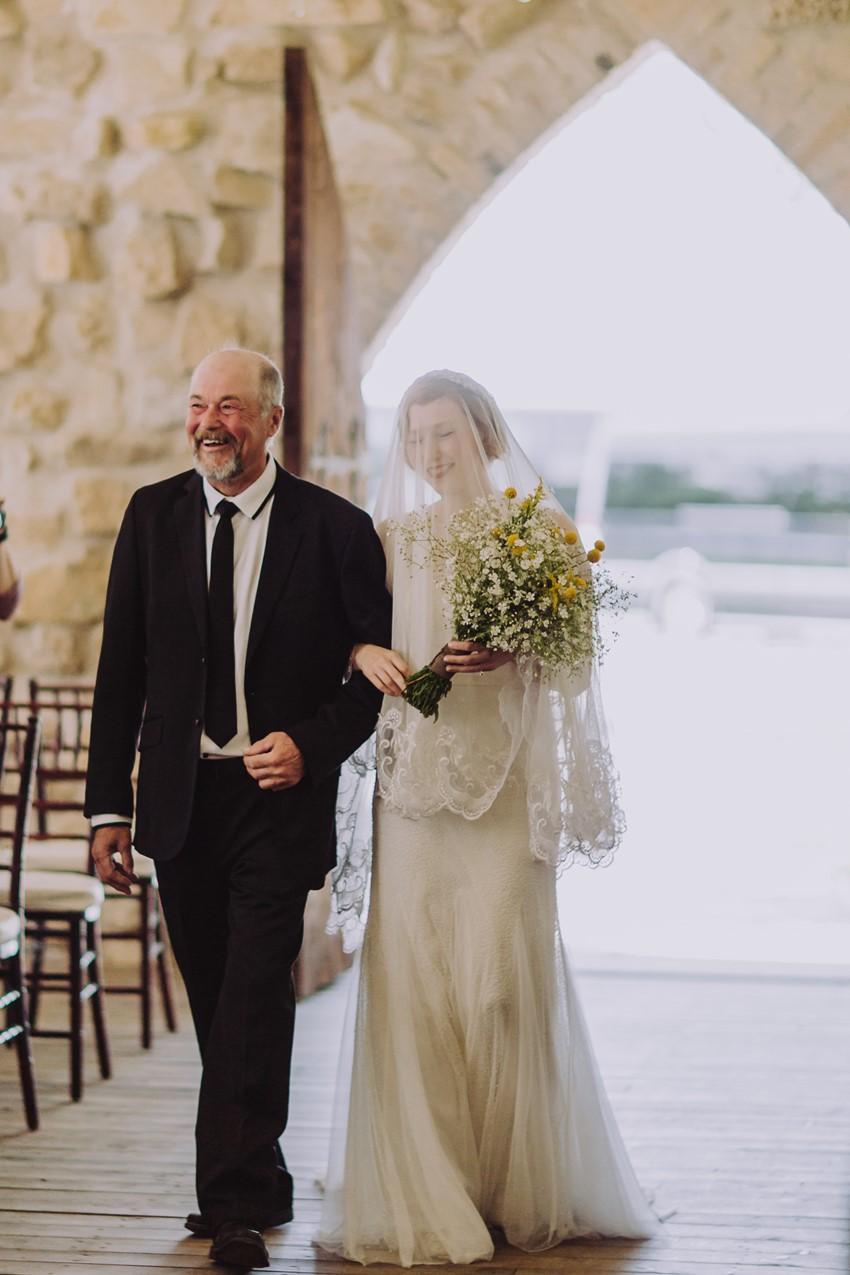 Vintage Inspired Bride & Father