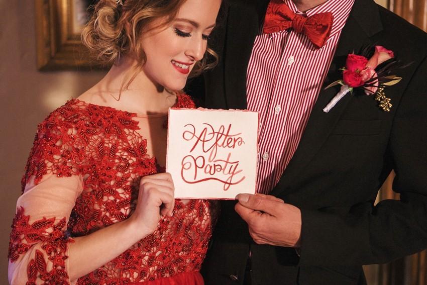 Valentines Wedding Bride & Groom
