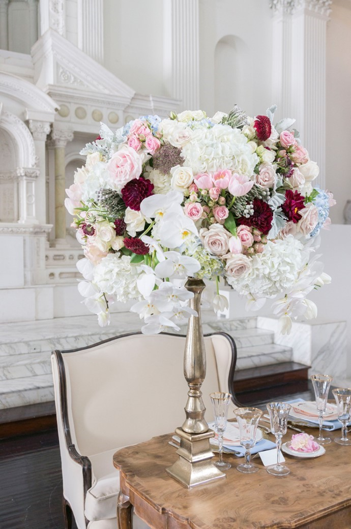 Stunning Tall Floral Wedding Centerpiece