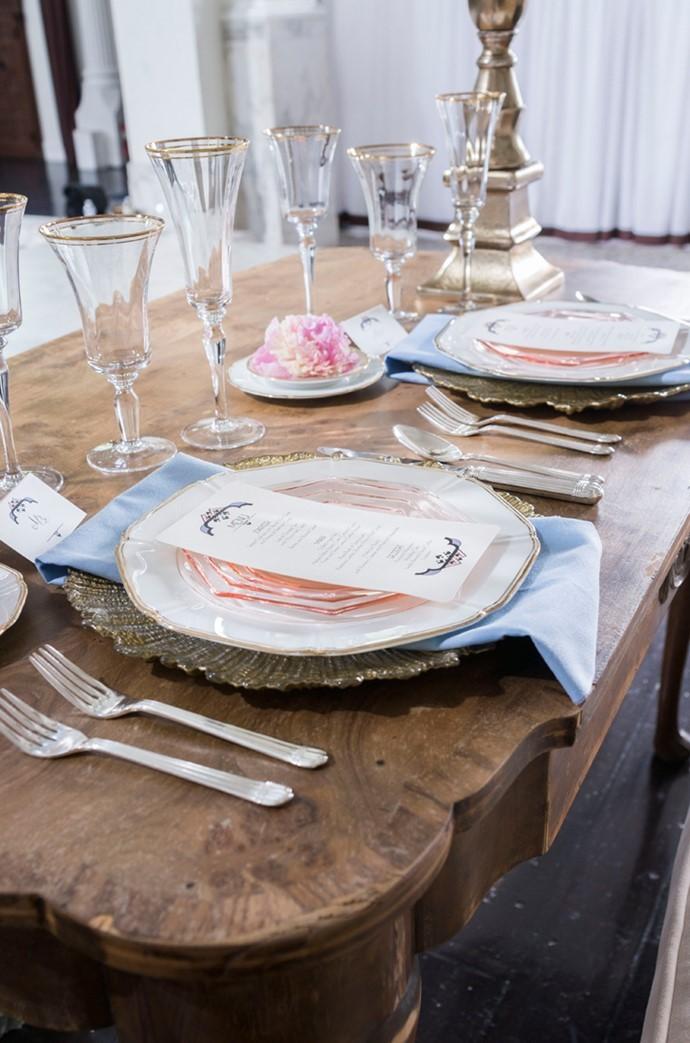 Romantic Art Deco Wedding Tablescape