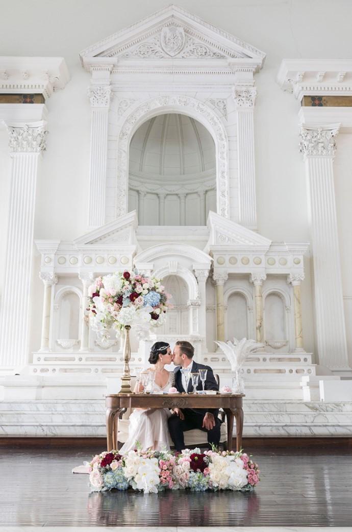 Art Deco Wedding Sweetheart Table