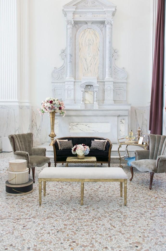 Art Deco Wedding Reception Lounge
