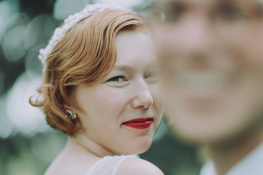 Vintage Inspired Bride with Finger Waves