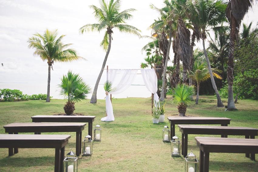 Destination Wedding Ceremony overlooking the sea