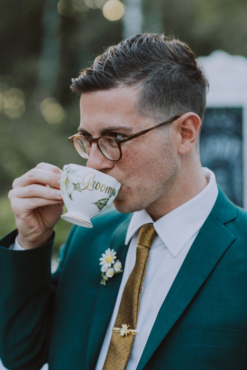 Groom Drinking Tea