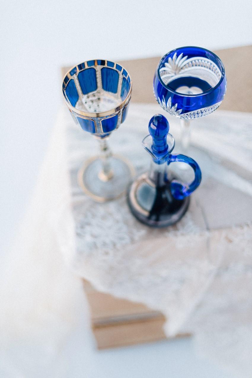 Dazzling Blue Wedding Decor
