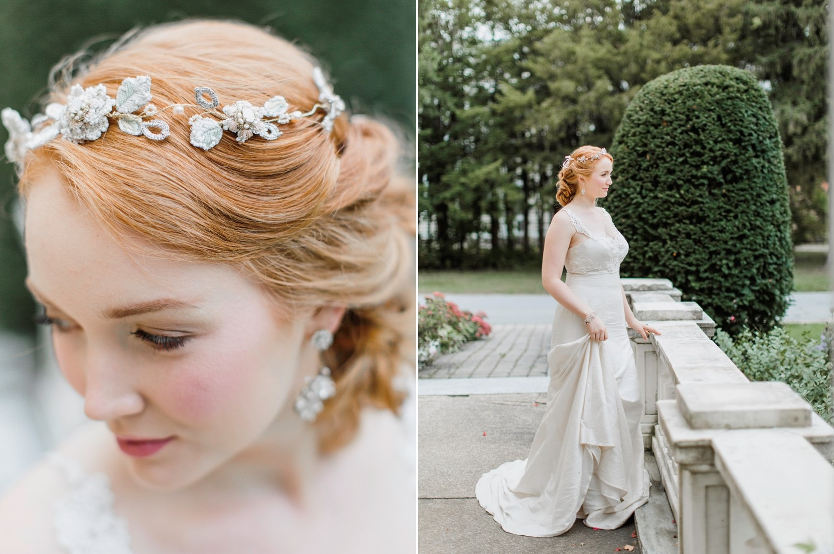 Delicate Floral Bridal Crown from Edera