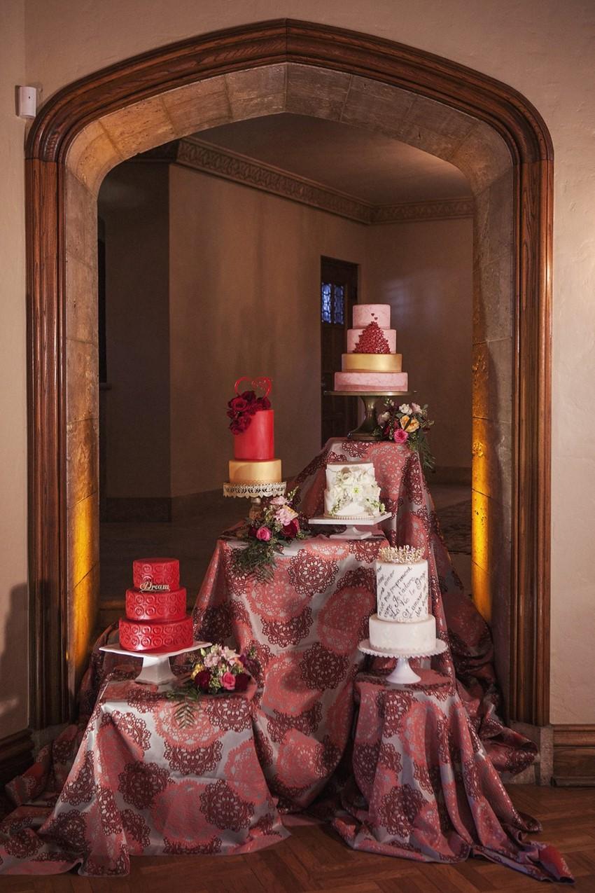 Opulent Valentines Wedding Cakes