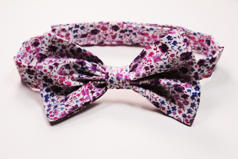 Amethyst Groom's Bow Tie
