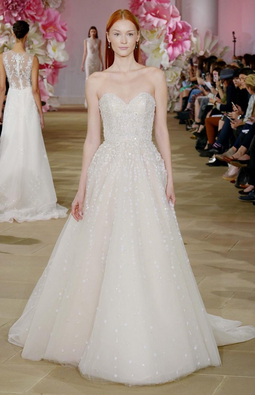 Bustier Bodice Wedding Dress ~ Ines di Santo Luster