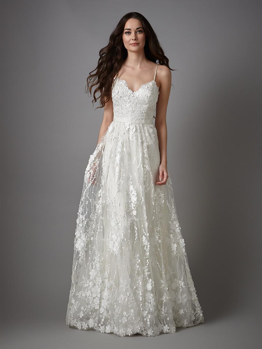 Floral Applique Wedding Dress ~ Sinead Catherine Deane