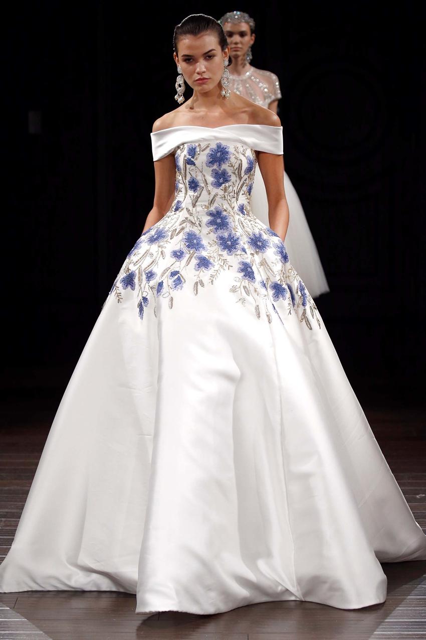 Floral Print Wedding Dress ~ Naem Khan