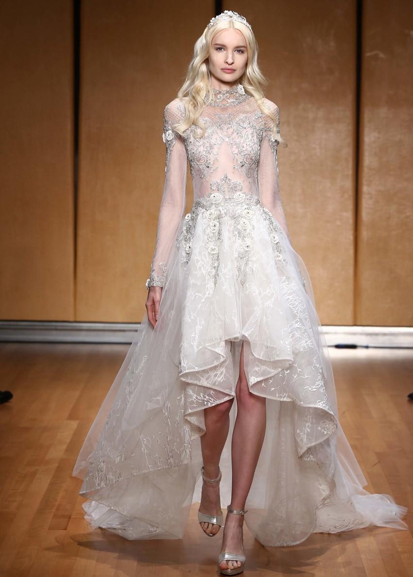 Hi Low Wedding Dress - Inbal Dror
