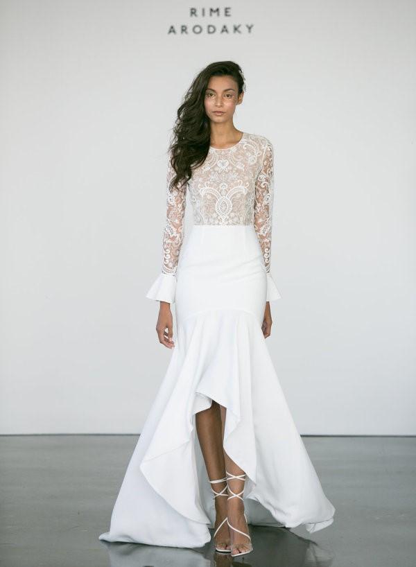 Hi Low Wedding Dress ~ Rime Adroaky