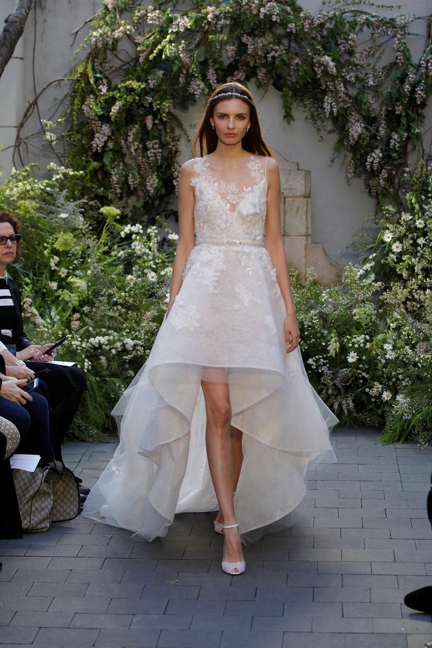 Hi low Wedding Dress ~ Monique Lhuillier
