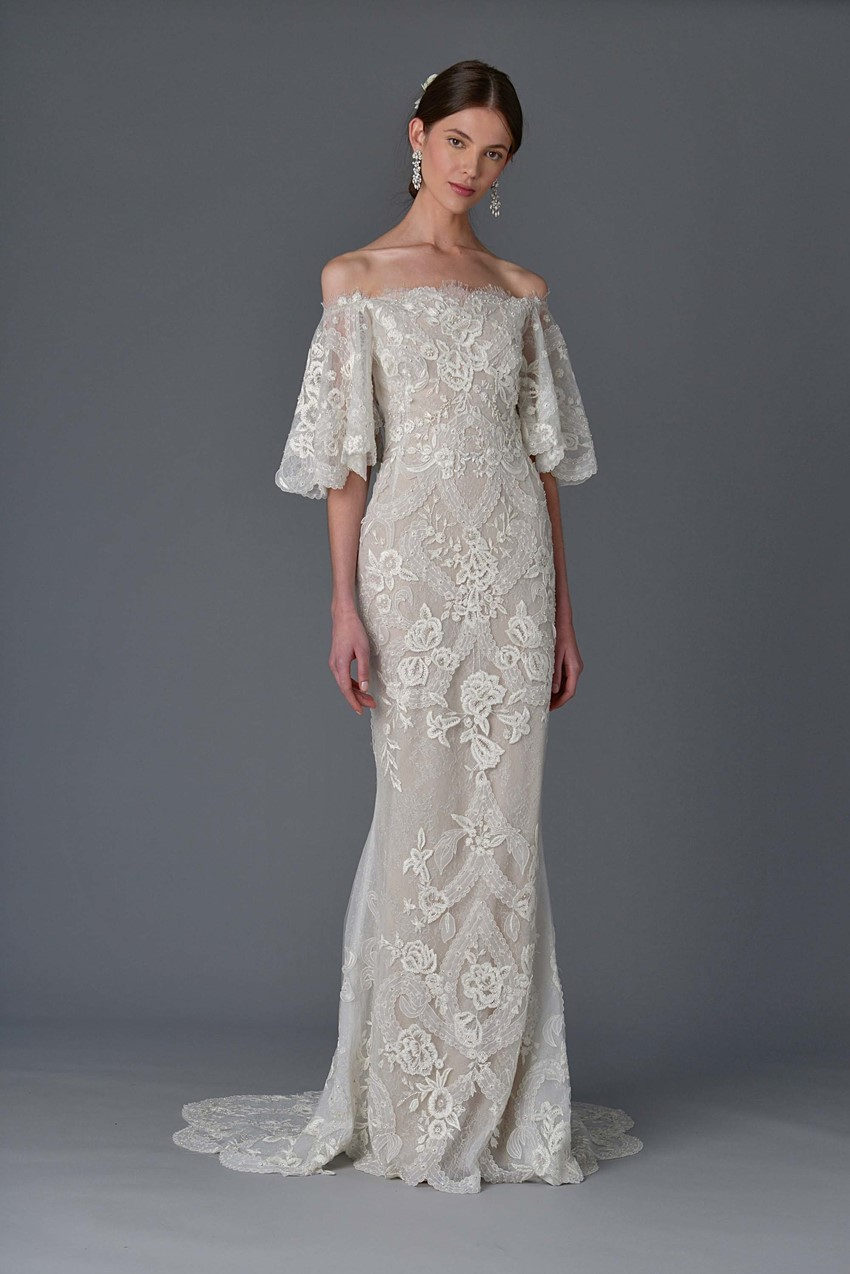 Off Shoulder Sleeves ~ Marchesa