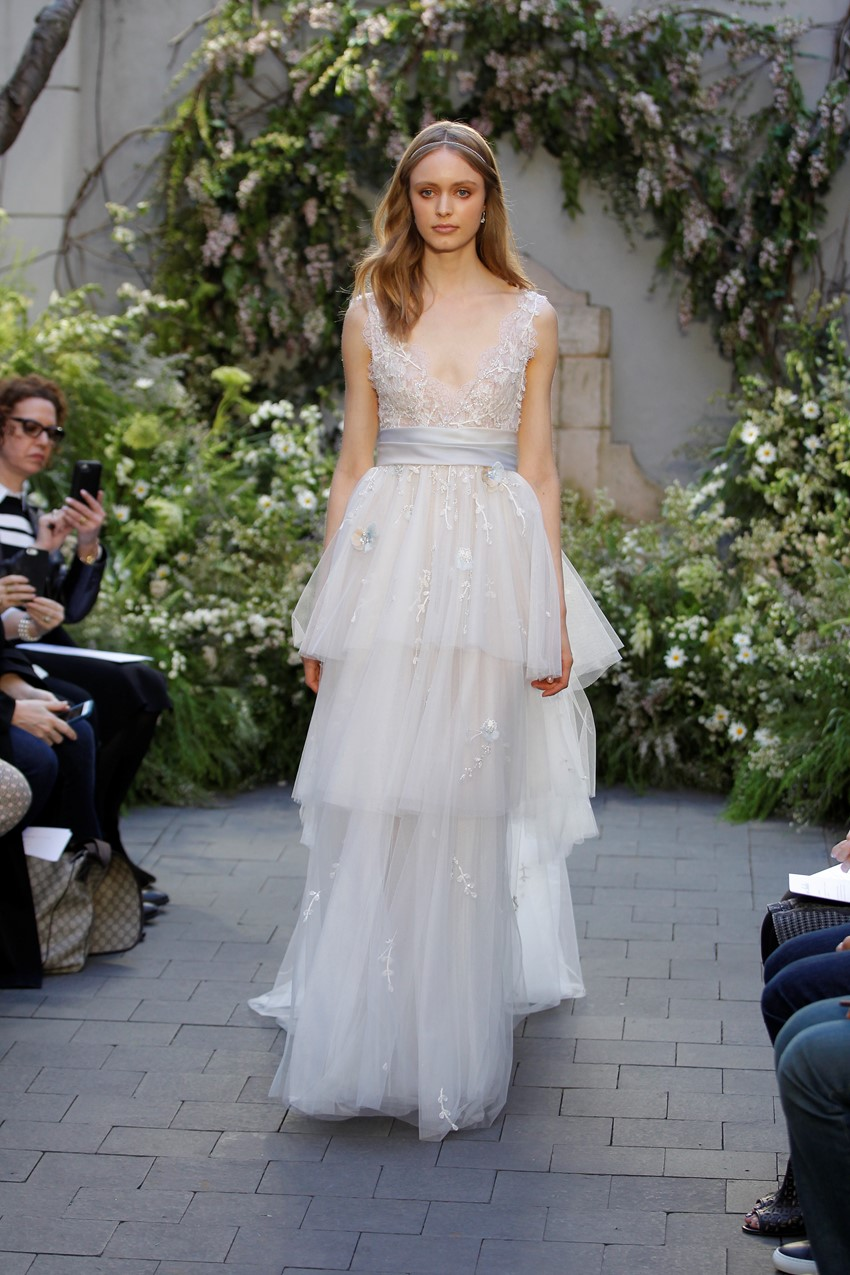 Pastel Hued Wedding Dress - Monique Lhuillier