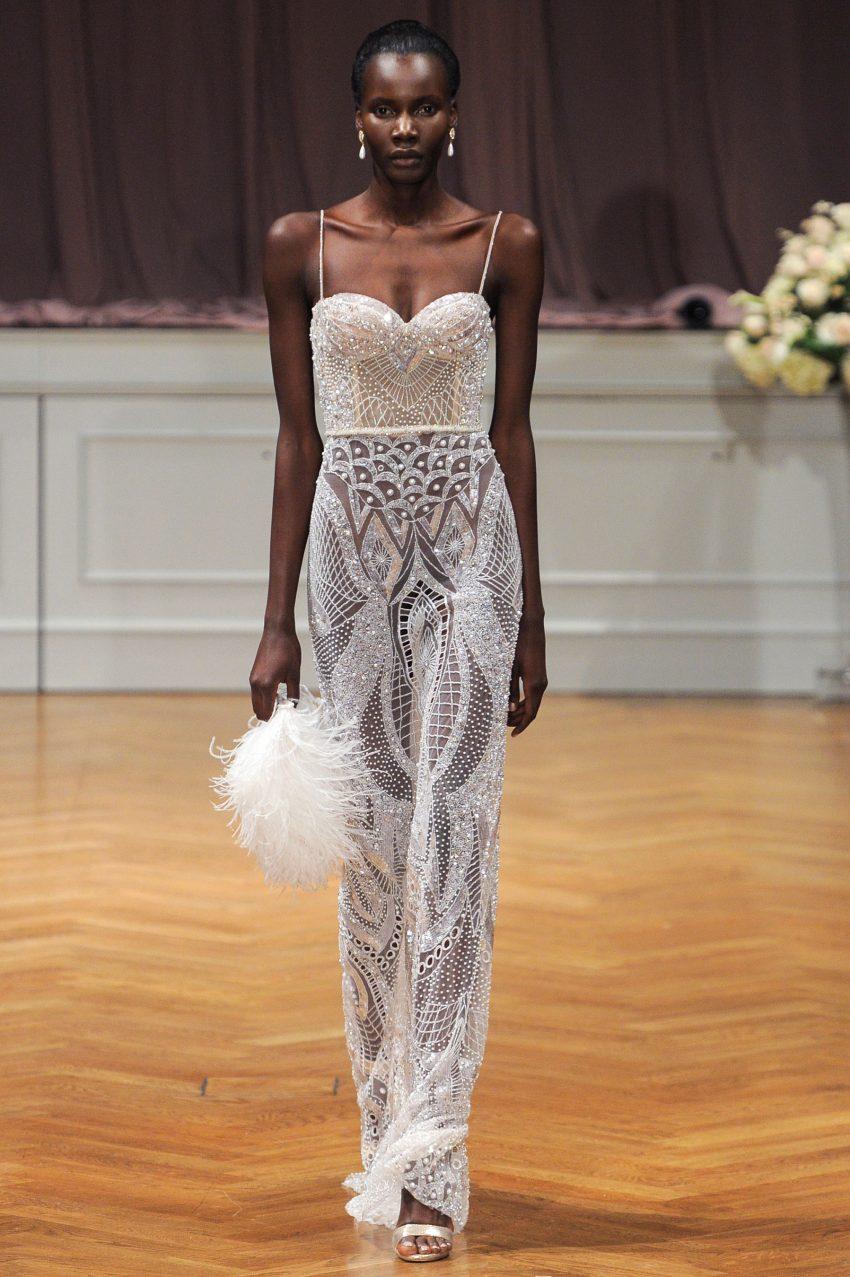 Sheer Wedding Dress ~ Alon Livne White