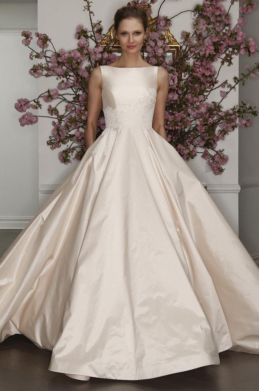 Simple Pink Wedding Dress ~ Romona Keveza Legends