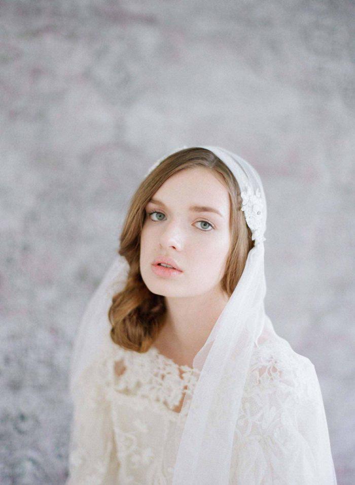 Juliet Bead Amp Lace Embellished Veil Chic Vintage Brides