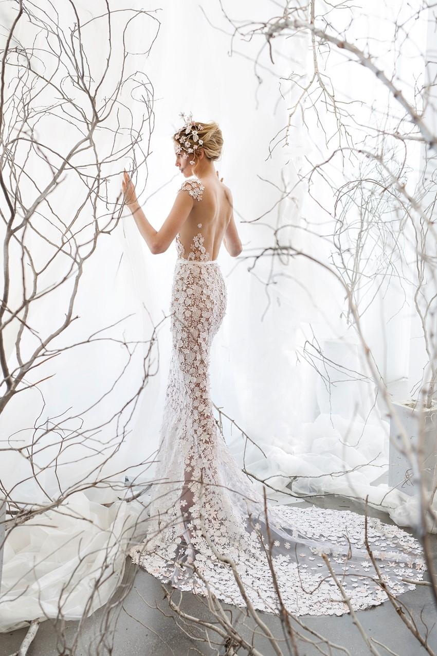 Wedding Dress with Long Train ~ Mira Zwillinger Noelle
