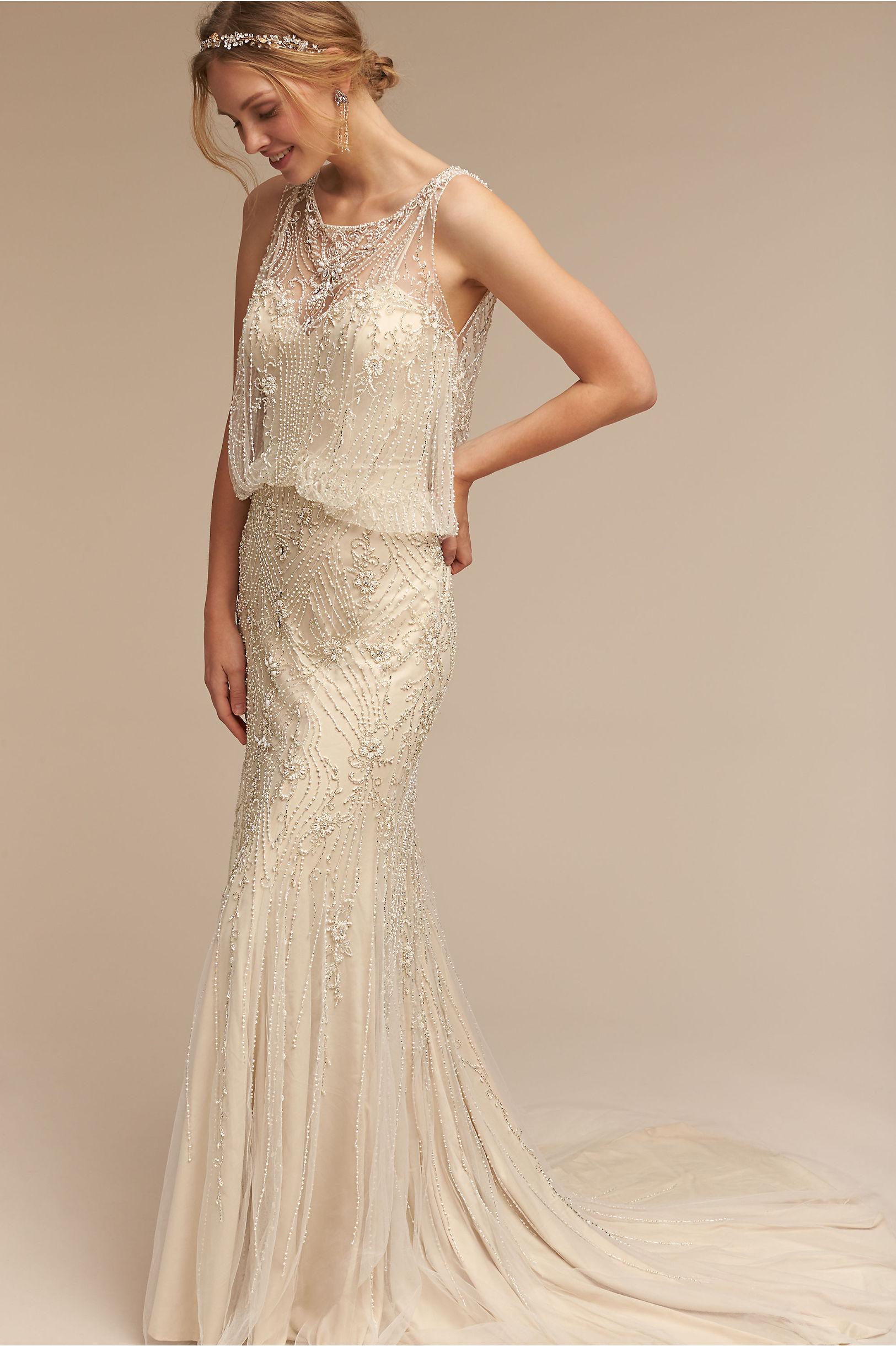 Wedding Dress with Long Train