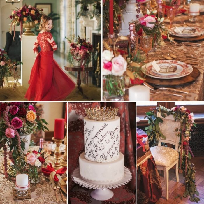 Opulent Red & Rose Pink Valentines Day Inspiration