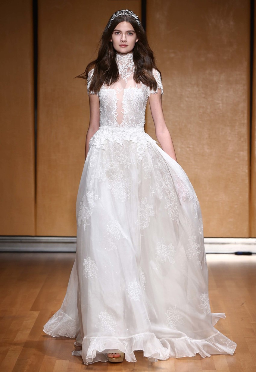 Victorian Neckline Wedding Dress ~ Inbal Dror