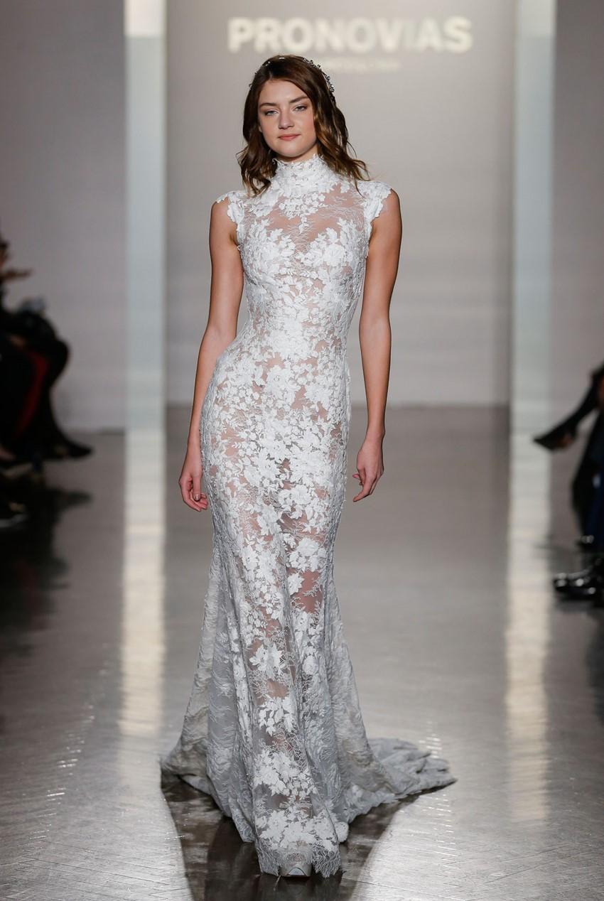 Victorian Neckline Wedding Dress ~ Pronovias