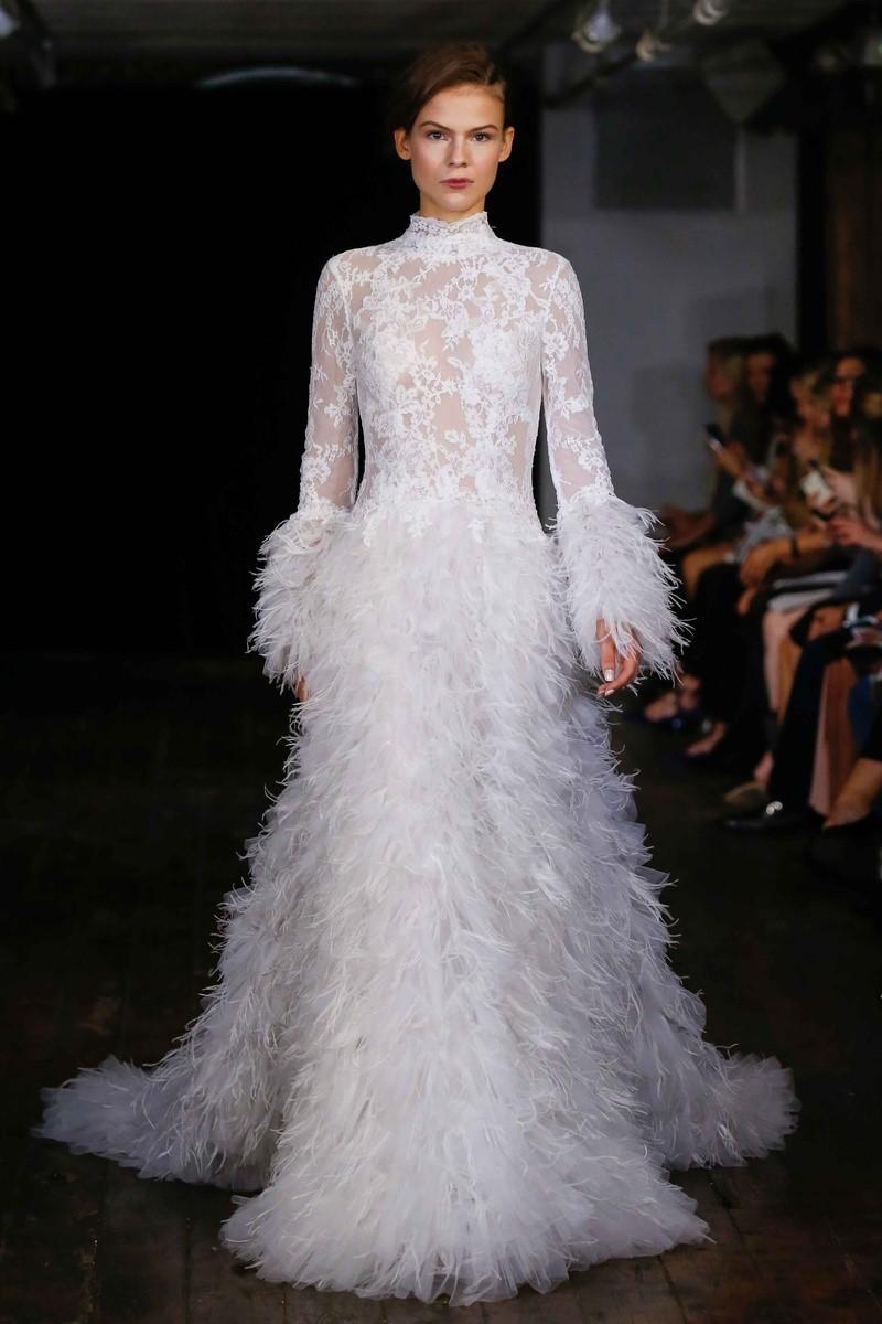 Victorian Neckline Wedding Dress ~ Rivini