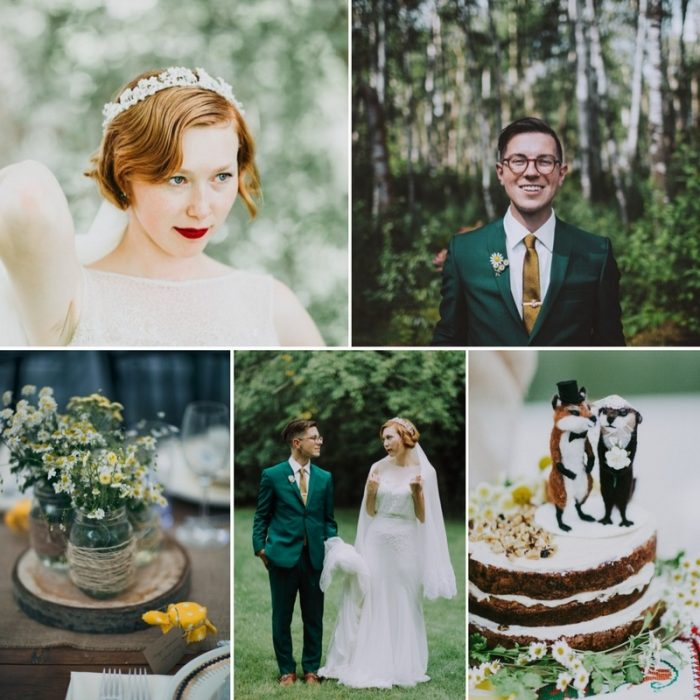Summer Bee Themed Vintage Wedding