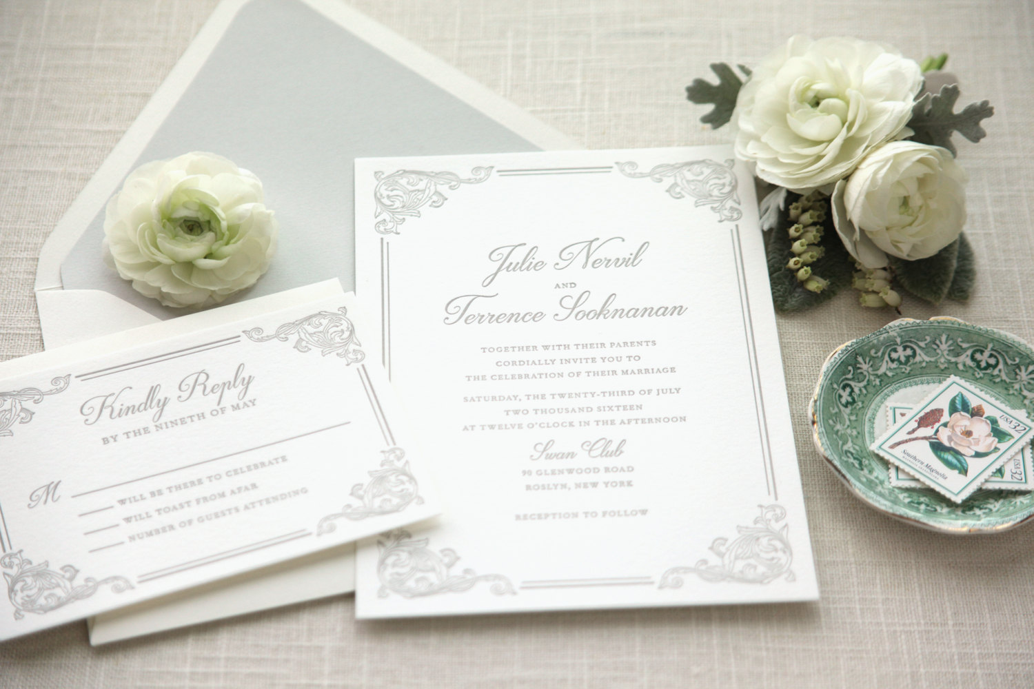 Letterpress Wedding Stationery Suite