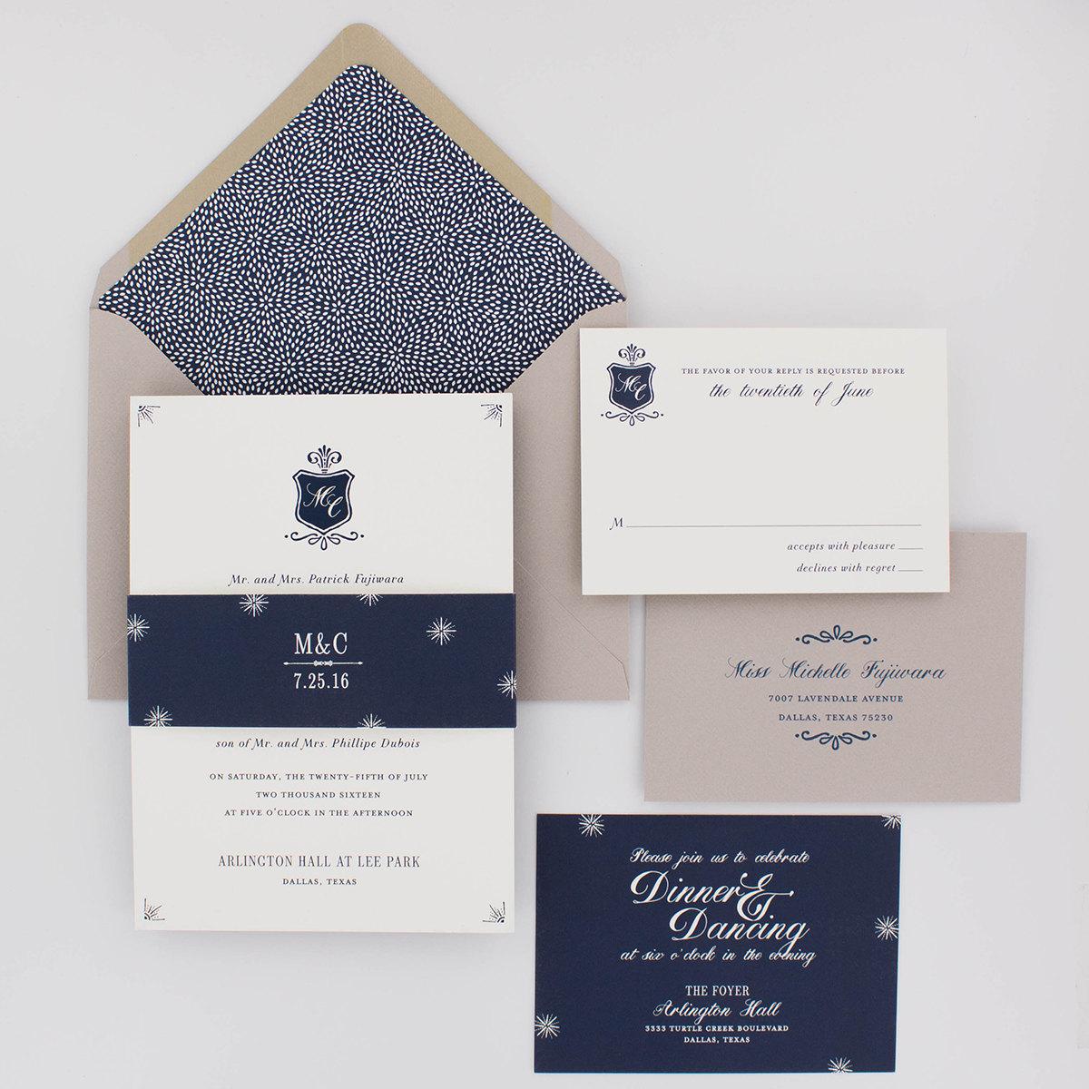 Classic Elegant Wedding Invitation