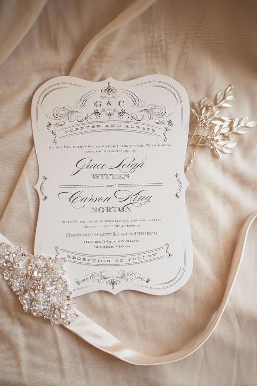 Romantic blush Pink Wedding Invitation