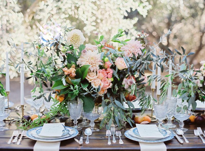 Lush Floral Wedding Centerpiece