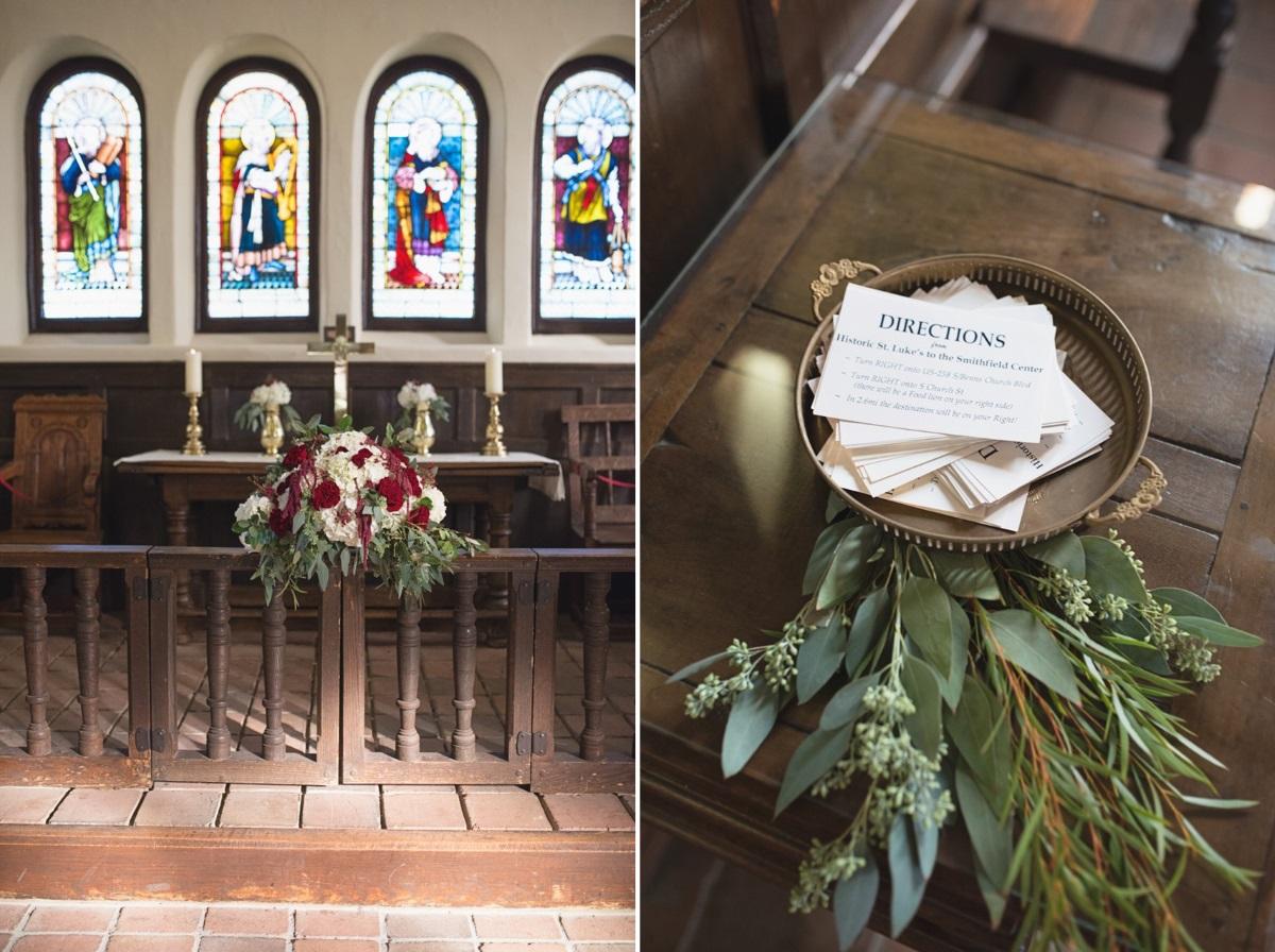 Vintage Wedding Church Ceremony