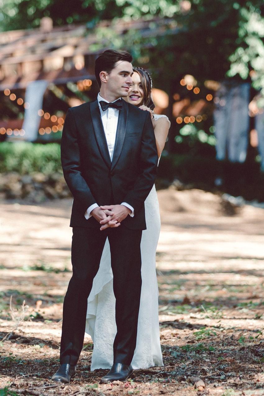 Romantic Woodland Wedding First Look