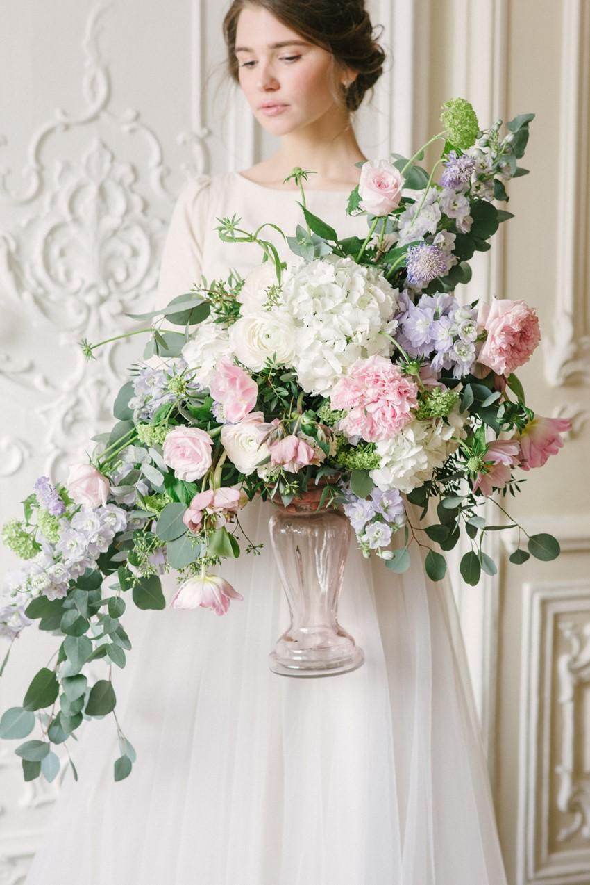 Pastel Floral Wedding Centerpiece