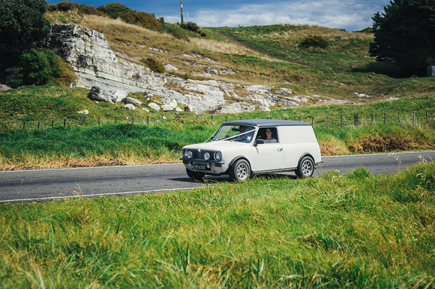 Classic Mini Wedding Transport