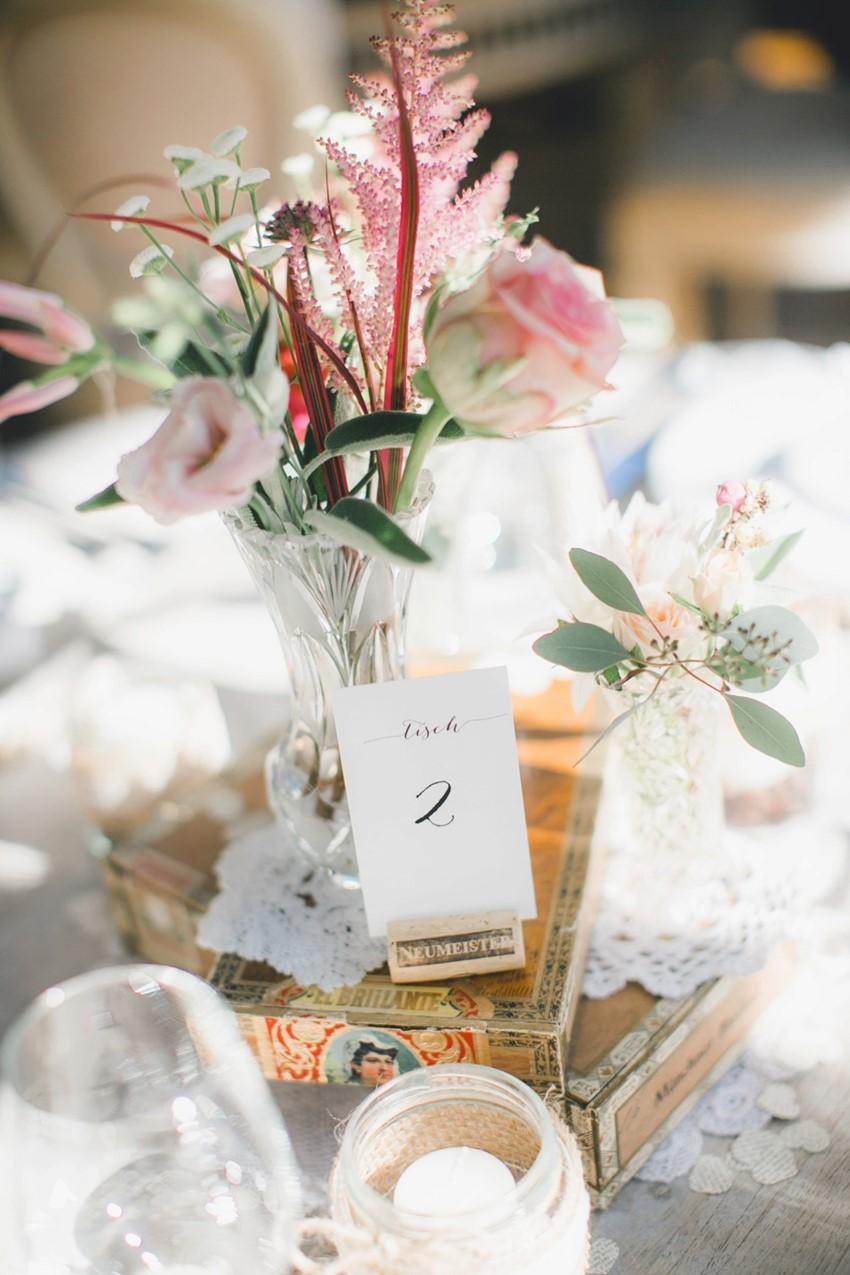 Beautiful Vintage Floral Wedding Centerpiece