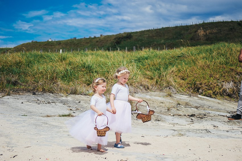Sweet Flower Girls for a Boho Vintage Beach Wedding