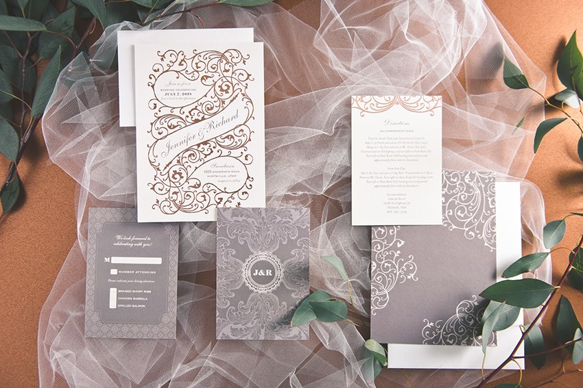 Beautiful invitations from wedding paper divas introducing their elegant copper foil wedding stationery suite from wedding paper divas junglespirit Gallery